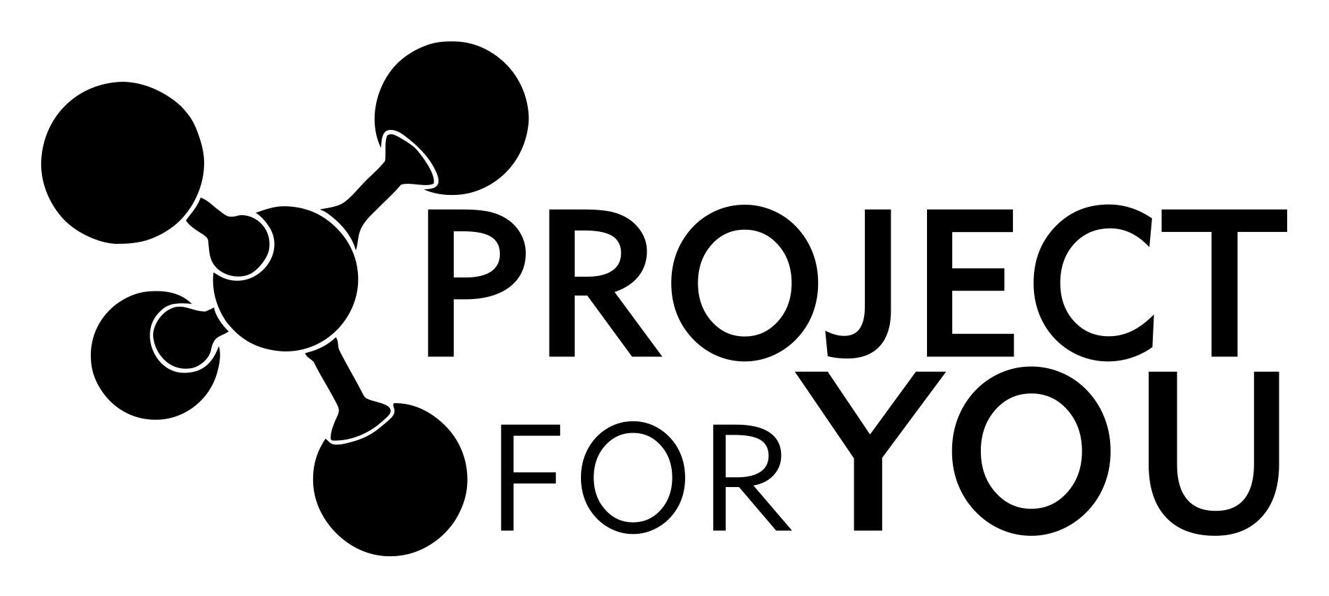 LOGO PROJECT FOR YOU - FUNDO TRANSPARENTE LETRA PRETA